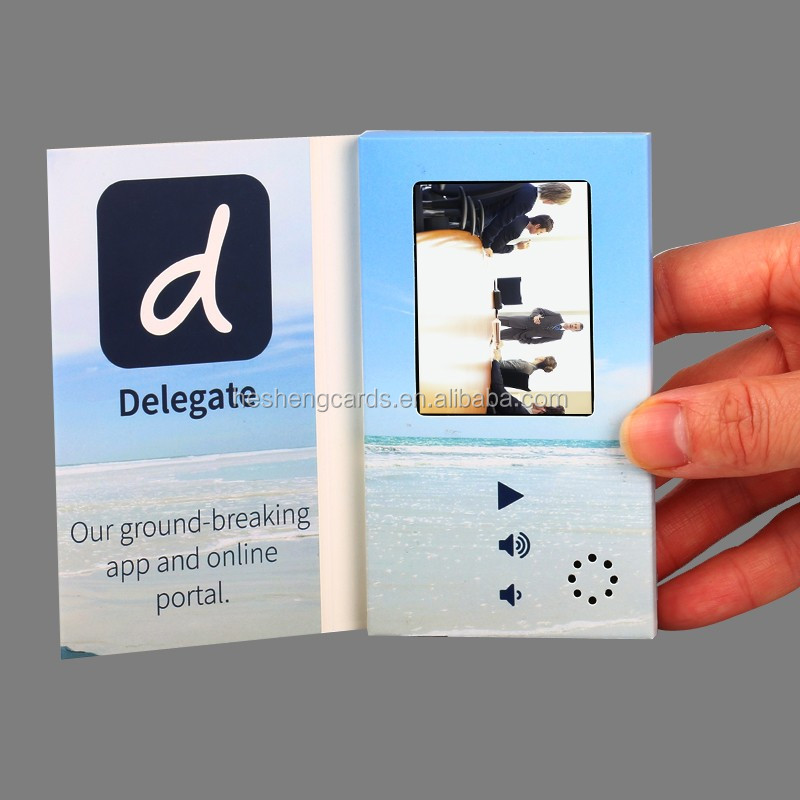 "Creative design idea 7"" video player advertising cards"