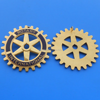 rotary international car badge casting zinc alloy car emblem