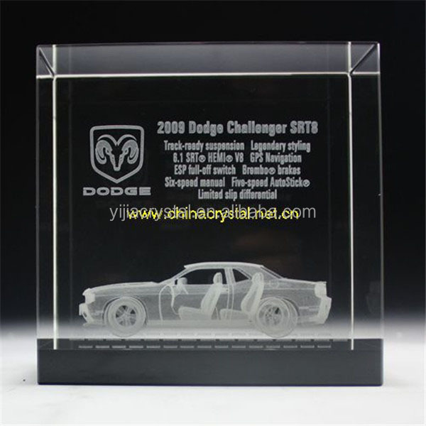 souvenir glass cube/blocks gift 3d laser etched crystal cube
