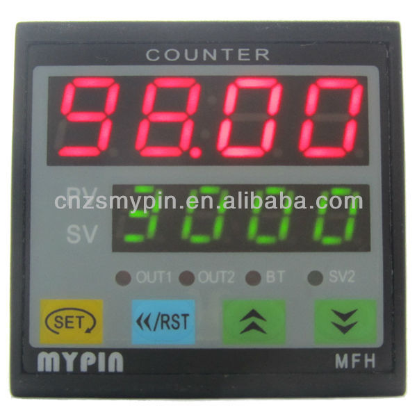FH4 digital counter with output relay and set the alarm value(MYPIN)