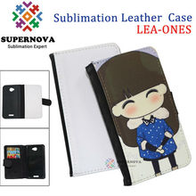 Sublimation leather flip case cover for htc one s
