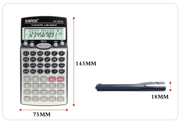 229 Scientific Function Table Student Calculator 2 Lines Display