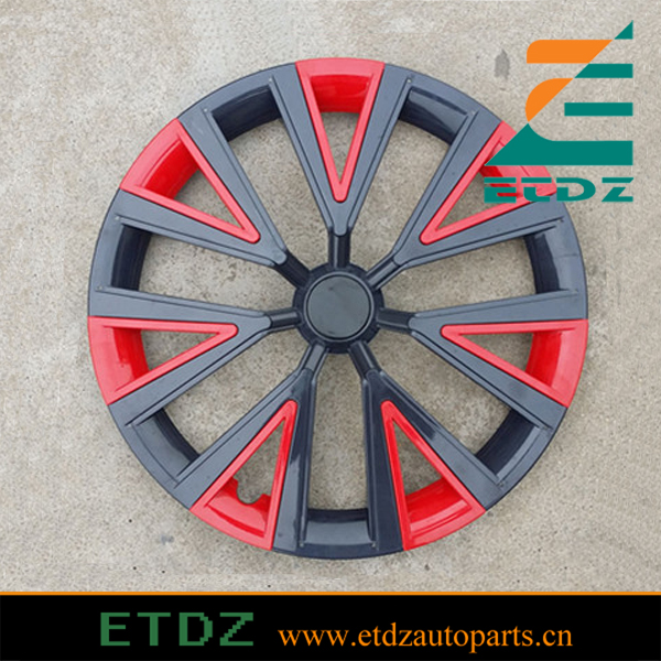 ABS High Quality 14inch BLACK/RED Color Car Wheel Cover