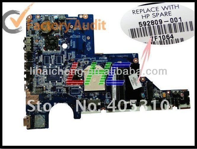 laptop motherboard 592809-001 for hp g62