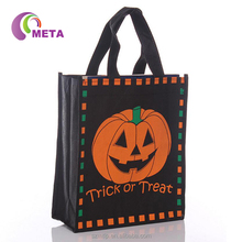 Promotional Laminated Foldable Non Woven Shopping Bag With Zip Pocket