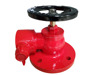 Right angle fire hydrant landing valve