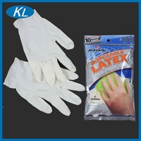 High quality natural color chemical resistant disposable latex gloves for laboratory