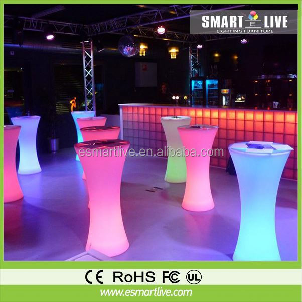 shanghai nightclub event rental commercial acrylic LED bar cocktail table