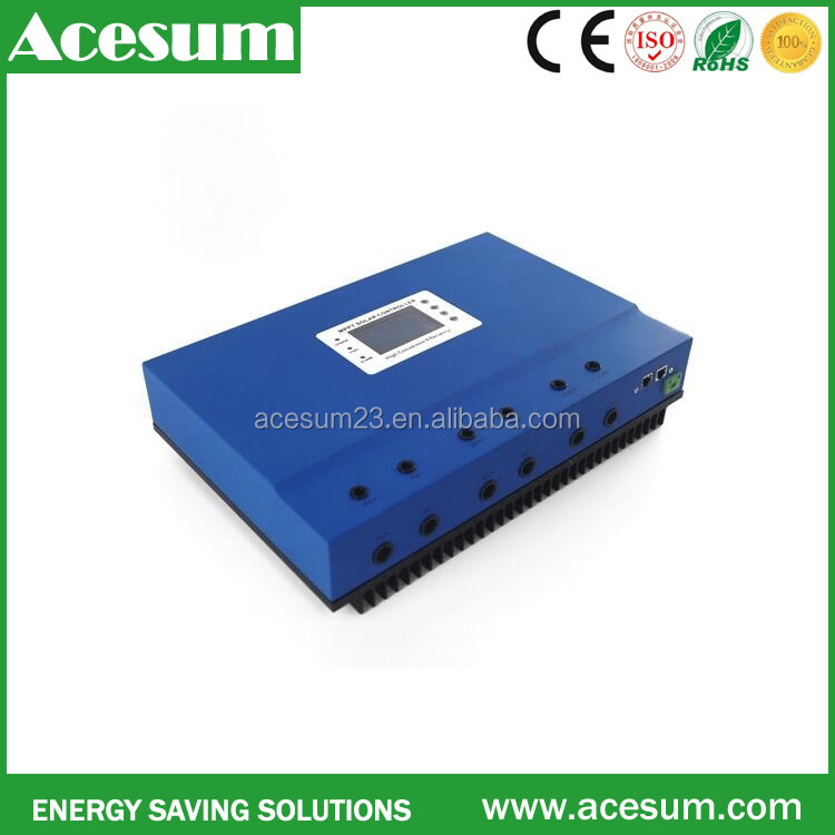 Power inverter solar pump system 100 amp mppt charge controller converter power backup panel system for farm