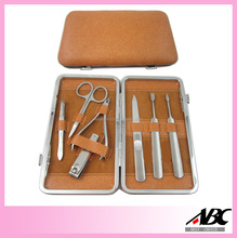 PU Case Stainless Steel Case Manicure Kit