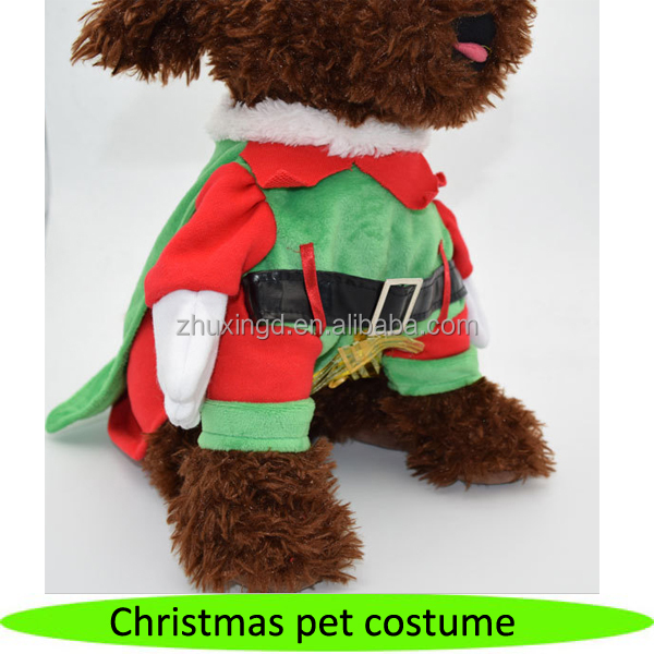 2016 new design winter Christmas dogs clothes Christmas pet costume