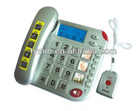 2013 hot selling super cheap medium-sized large sos system telephone set with large LCD