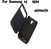 Backup battery case for Samsung galaxy S4 rechargeable Battery Power Bank Case for I900/9500 with leather
