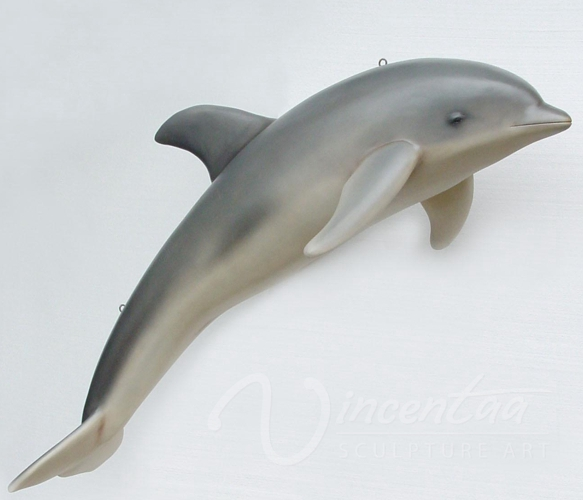 China supply indoor decoration art crafts dolphin fiberglass statues for sale