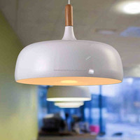 The modern aluminum wood personality single head metal pendant lamp for dining room