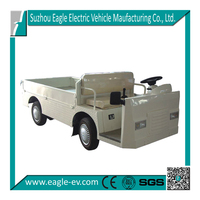 electric industrial vehicle supplier from China, 48V 5KW power motor, flat cargo bed, with hard door as option