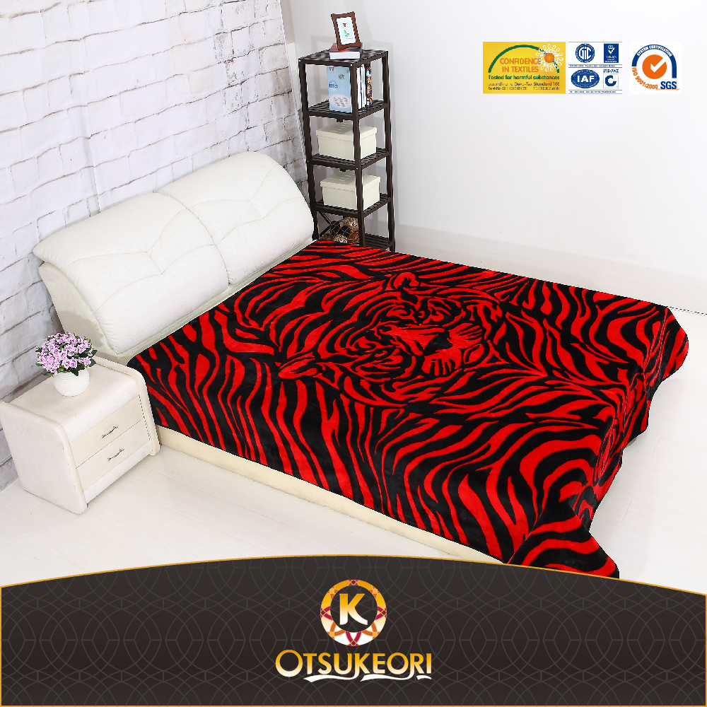 short pile shining 3d embossed animal shaped blanket