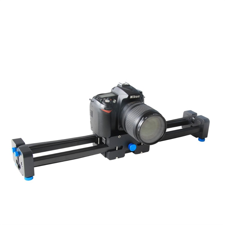 "20""/50cm Aluminum Alloy Extendable Double Travel Distance Track Dolly Rail Slider Video Stabilizer for Camcorder DSLR Camera"