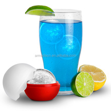 hot selling eco-friendly ball shape silicone ice cube tray with lid