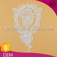 New design embroidery polyester crochet flower lace applique for garment WNL251