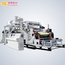 supermarket use: clear soft food grade wrap Casting PVC clingfilm extruder production line