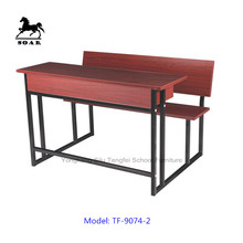 Cheap price of school desk and bench or with chair combo