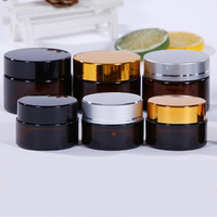 10g 20g 30g 50g amber glass jar with metal lid