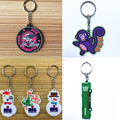 Free sample custom keychain rubber promotional