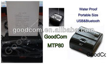 Mini bluetooth printer,bluetooth mini thermal printer/ portable pos printer with 80mm thermal receipt paper