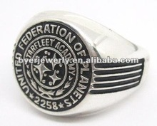 new Academy design finger ring in high school