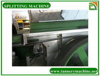 Cow splitting machine for leather