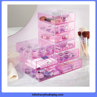 Competitive price professional acrylic desk makeup organizer with tray