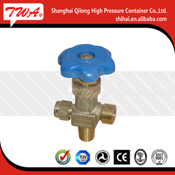 Oxygen, nitrogen, atmosphere brass pressure gas CGA540 aluminium handle valve