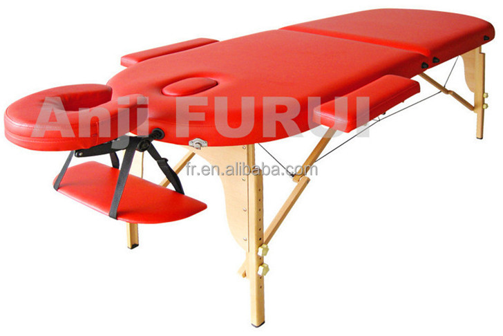 wooden massage table double color massage bed korea massage bed lightweight double folding bed