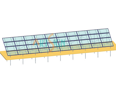 Uni tubes sandy ground solar power plant 1mw