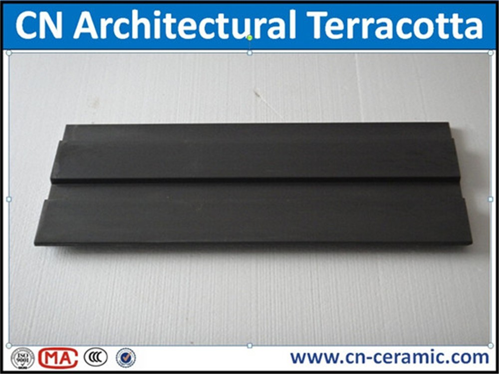 Terracotta facade panels with fixing accessories system for dry hanging