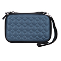 2.5 inch EVA PU Storage Bag Case Portable Accessories Handbag Zipper Bag with Wrist Strap