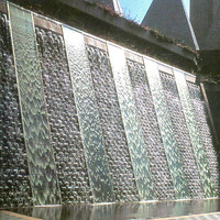 Factory supply outdoor stone wall fountain, wall water fountain decoratives for wholesale