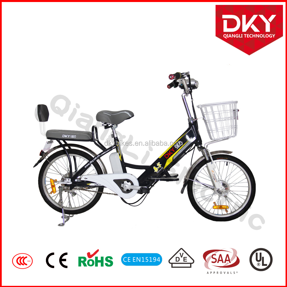 DKY 20 inch Bulk Cheap Green Road Electric Bike with 36V 8Ah