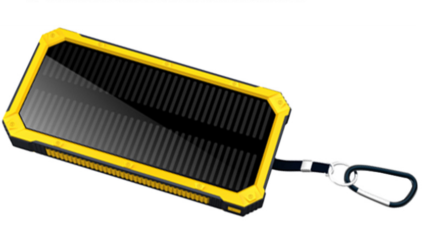 universal solar power bank for laptop, 8000mah battery charger solar power bank for all smart