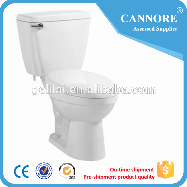 Washdown Two Piece Toilet For Sanitary Ware Bathroom