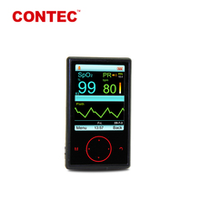 CONTEC CMS60F 2017 hot sale CE approved Color OLED Handheld pulse oximeter with bluetooth wireless--- pulse oximeter sensor
