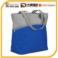 promotional tote canvas shopping bag with zipper pocket