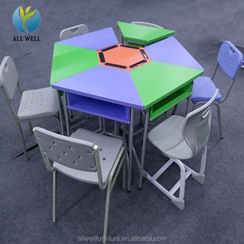 School desks and furniture smooth study wooden student desks and chair