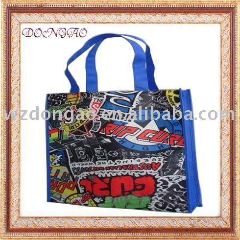 Good quality sell well easy promotional woven shopper in plastic