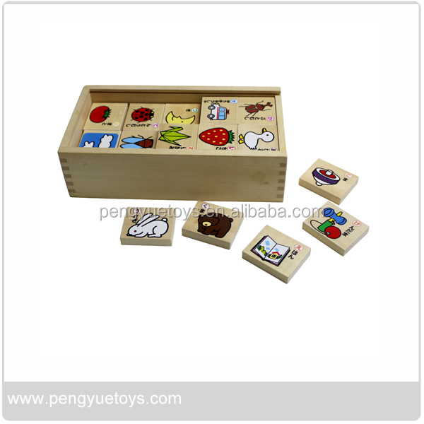 Wooden Learning Toy Japanese Recongnition Puzzle Toy for preschoolers