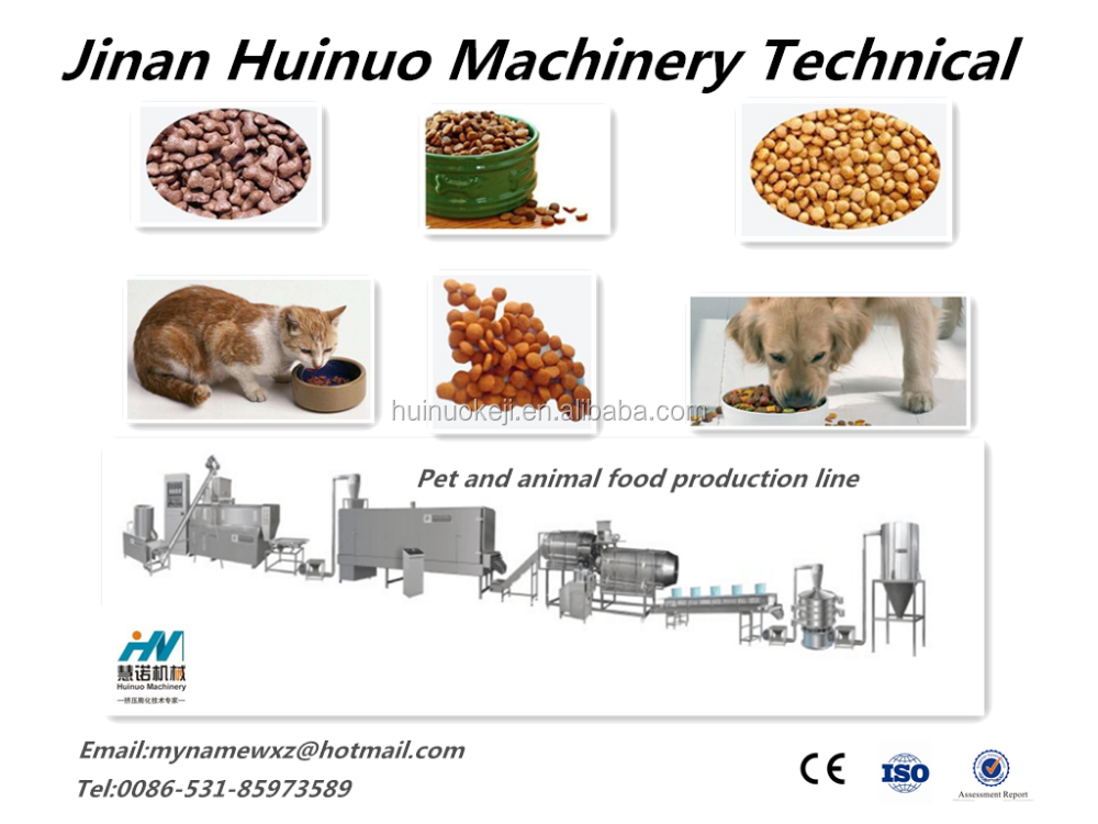 Large Output Pet and Animal Food/dog/cat/fish/bird Food Production Line