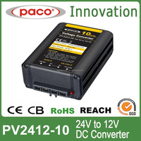 CE RoHS Approved High Reliable 24V DC to 12V DC Converter 10A
