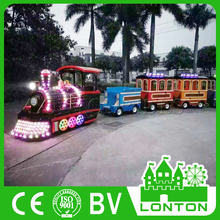 kids electric amusement train rides outdoor trackless train mini trackless train for shopping mall