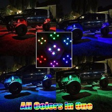 Led Rock Light With Bluetooth Music Controled 10 Pod RGB DIY Led Rock Light Offroad Jeep Truck IP68 Led Side Marker Lamp